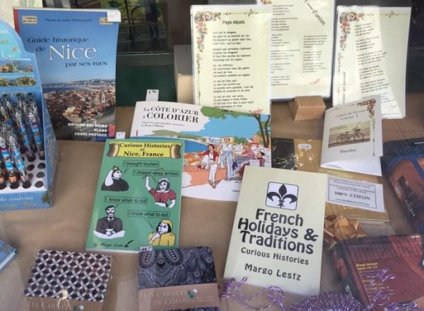 Margo's books in bookstore window