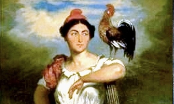 Marianne and rooster