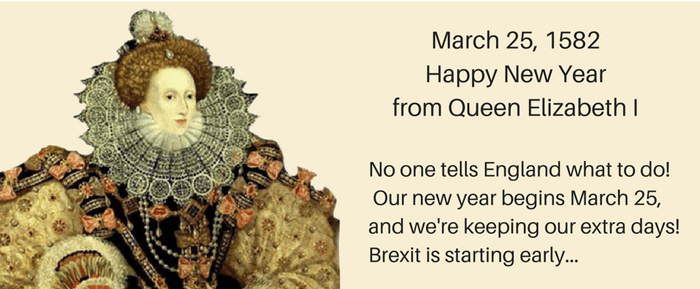 Elizabeth calendar new year 700