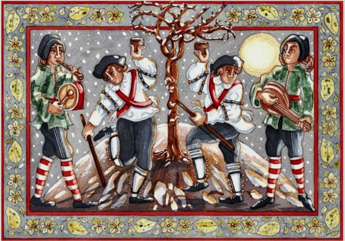 wassailing a tree
