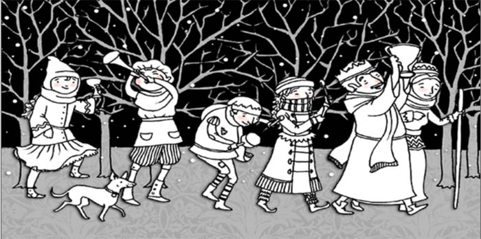 wassailing in orchard 700
