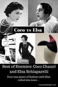 Coco Chanel and Elsa Schiaparelli