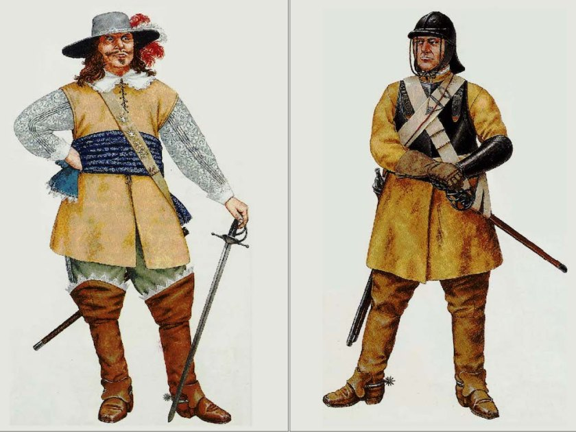 Cavalier and Roundhead uniforms