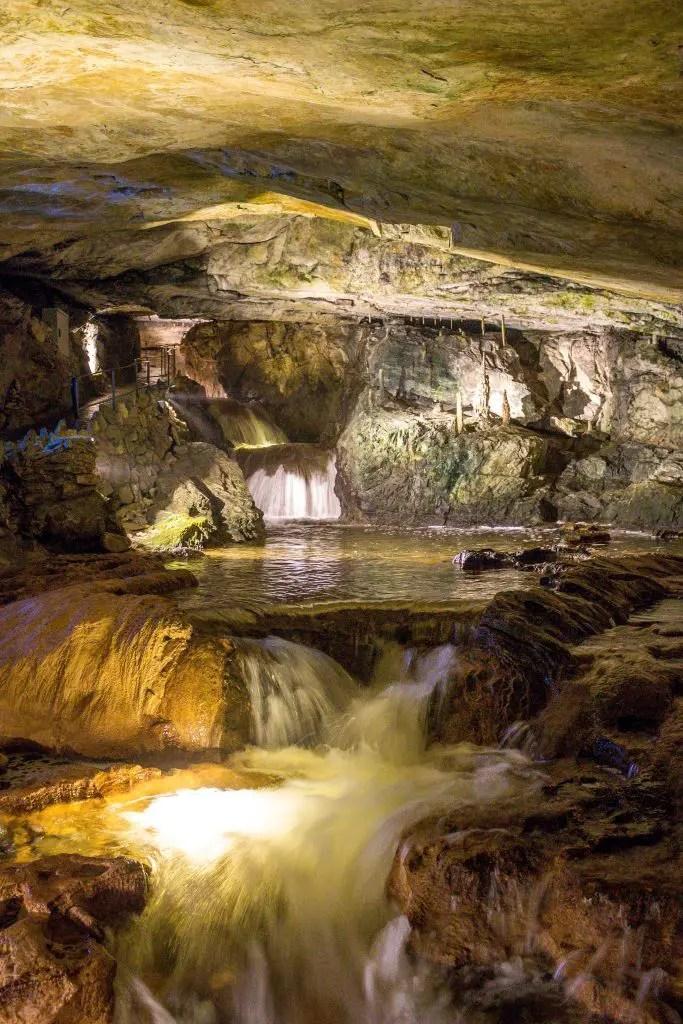Waterfalls inside St Beatus Caves, Switzerland