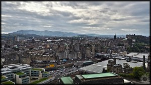 Edinburgh City View from Nelson Monument