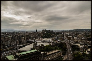 City-View over Edinburgh from Nelson Monument