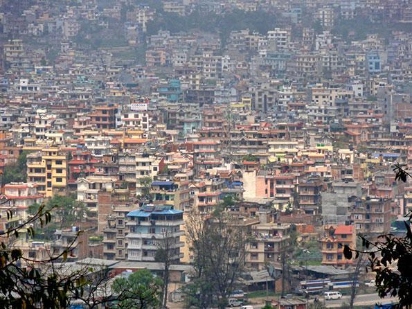 The dusty city of Kathmandu