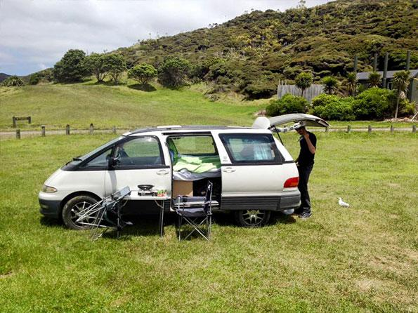 Travelling with a van in New Zealand