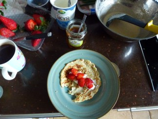 Tuesday 09-02-16. Pancake day using some coconut flour in this recipe.