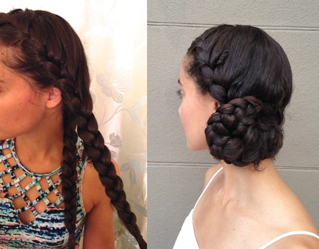 Braided Side Bun White Linen Night Curl On A Mission