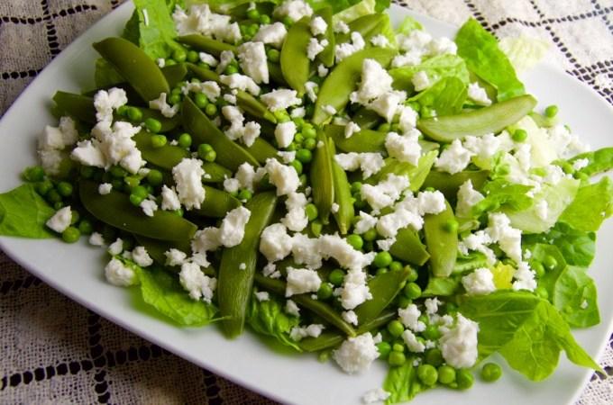 Recept Groene groenten salade met feta