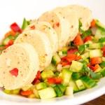 Recept vispate met komkommersalsa