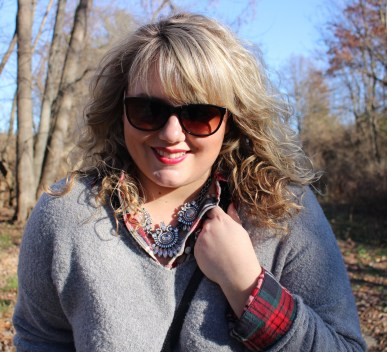 Curls and Contours, Statement Necklace, Flannel