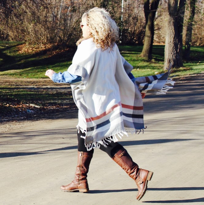 Curls and Contours, Plus Size Poncho