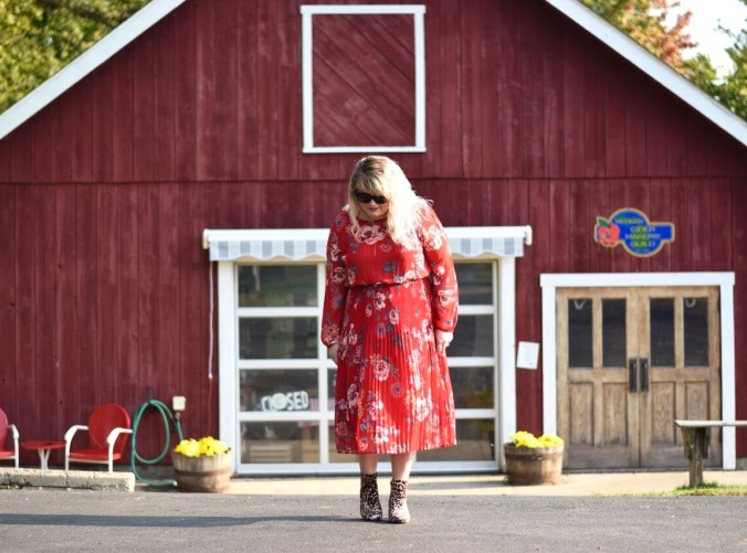 Pattern mixing for Fall with a couple of pieces from Targets latest product lineup. How to style a floral dress for any occasion.