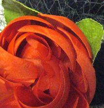 vintage French ribbon flower