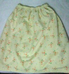 this laura ashley remnant became a tablecloth, then a skirt