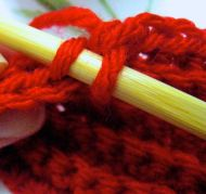 where to crochet that back stitch