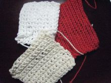 did more crocheting in various colours, using up leftovers