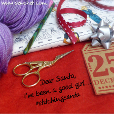 you'll start seeing this a lot as it's time again for #stitchingsanta