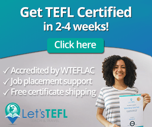 Button to purchase Let's TEFL teacher certification.