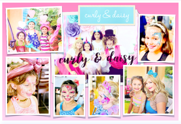 Curly and Daisy Girls Birthday Party