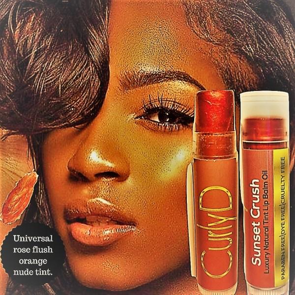 Sunset Crush Luxury Natural Tint Lip Balm Oil 4