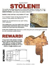 stolen tack flyer sign