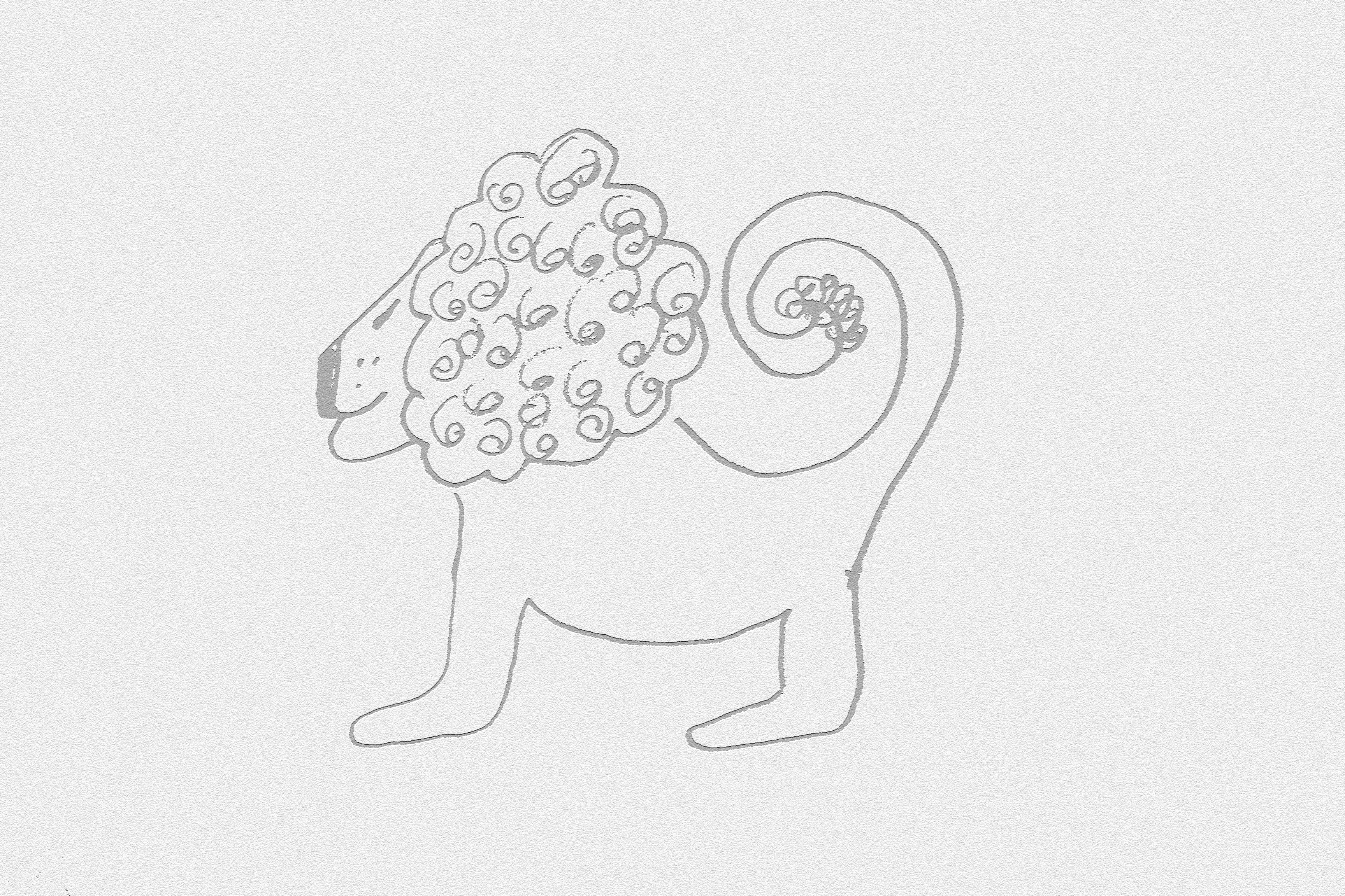 Baby Lion Cartoon Drawing