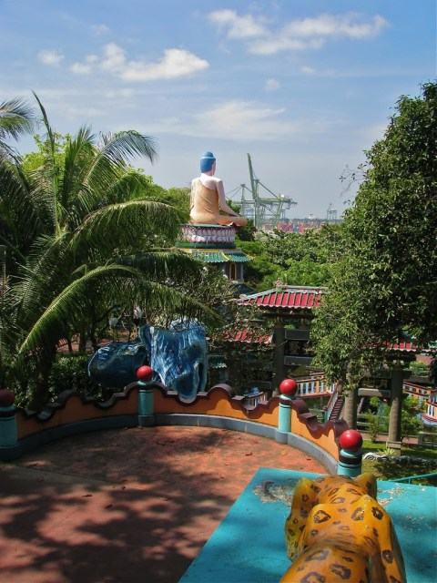 view from Haw Par Villa over the sea | curlytraveller.com