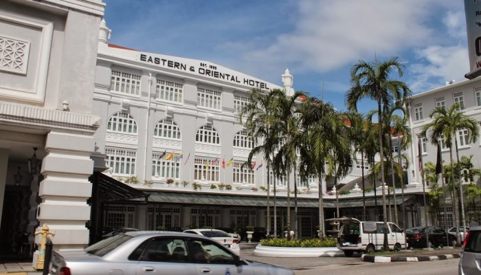 The Eastern & Oriental Hotel in Georgetown, Penang.