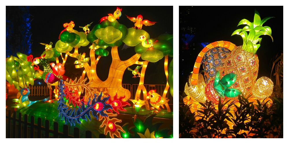 lanterns from birds and fruits