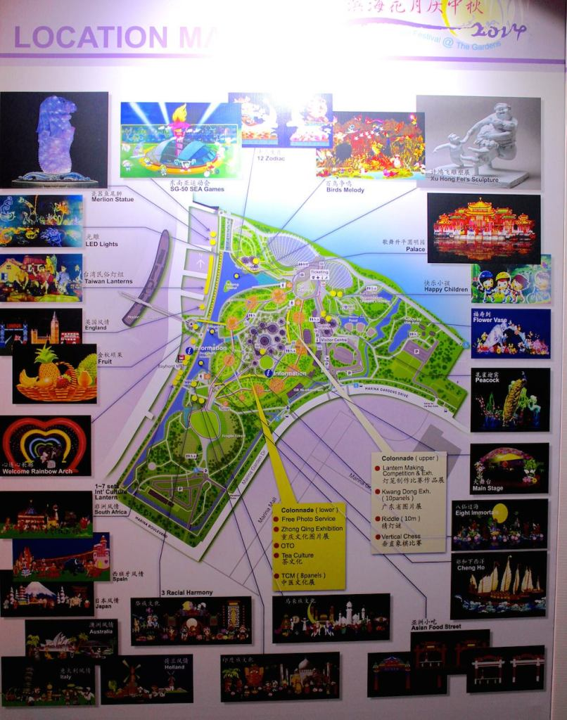 map of lanterns in park