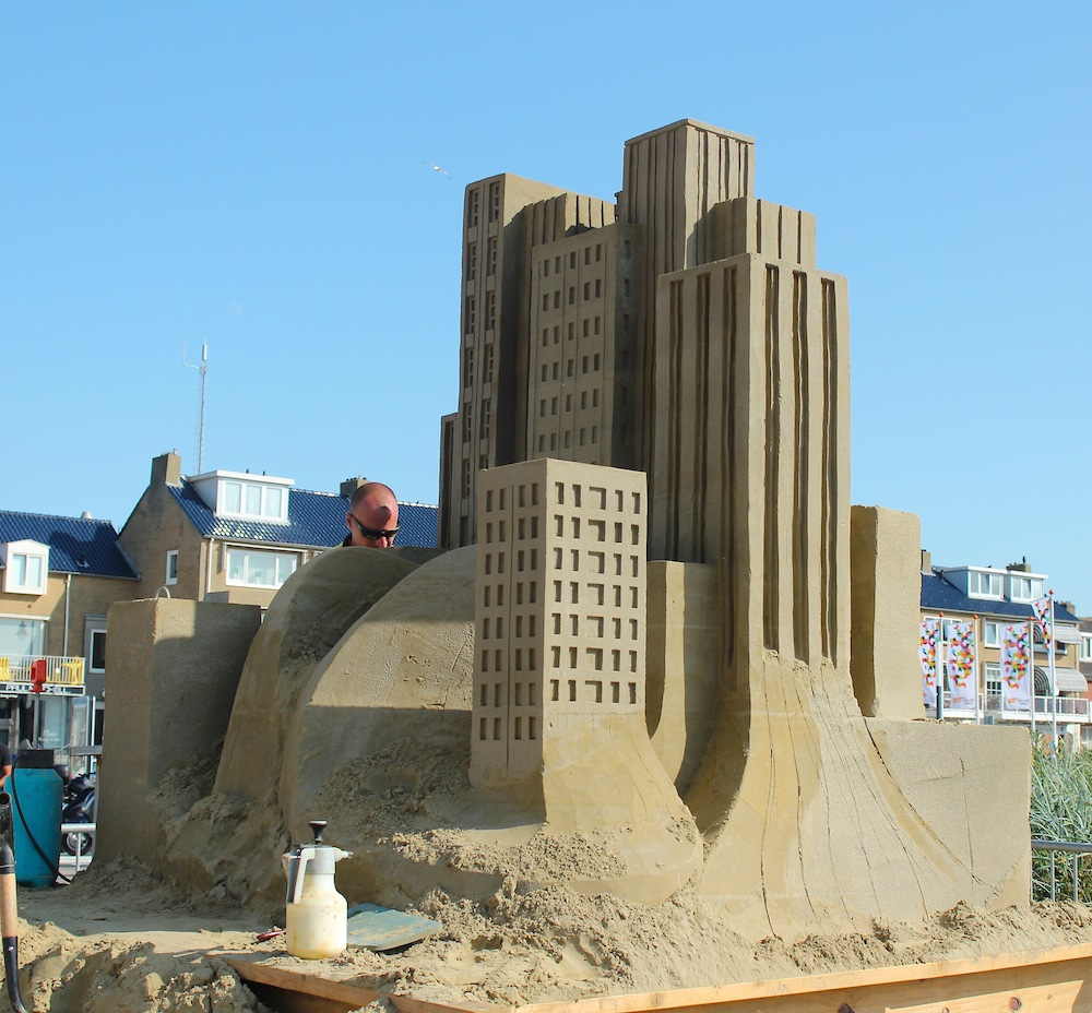 architectural sand sculpture