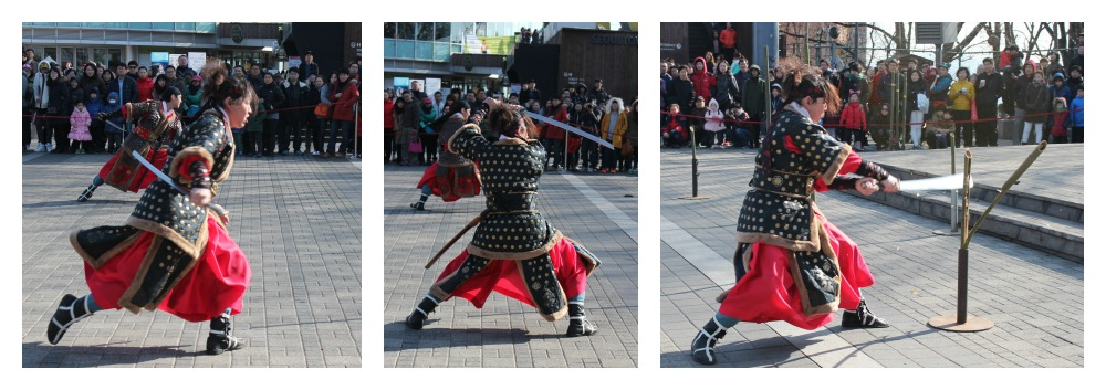 Korean martial arts fighter cleaves bamboo at N Tower| curlytraveller.com
