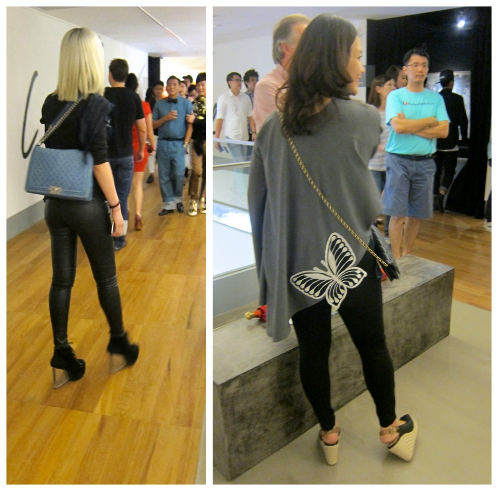 Women in perspex heels and butterfly patch|curlytraveller.com