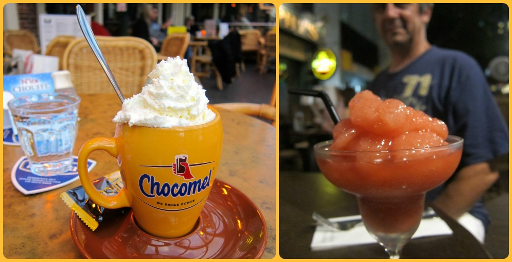 hot chocolate and a daiquiri, left in Haarlem, right in Singapore  curlytraveller.com