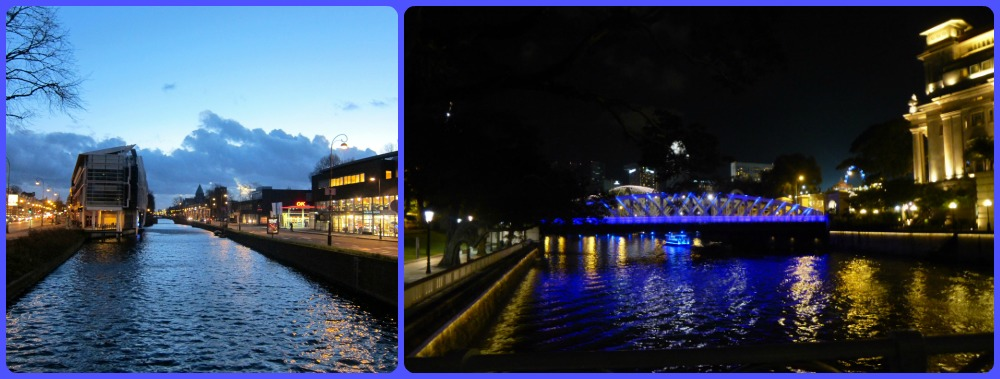 The river, left in Haarlem, right in Singapore  curlytraveller.com