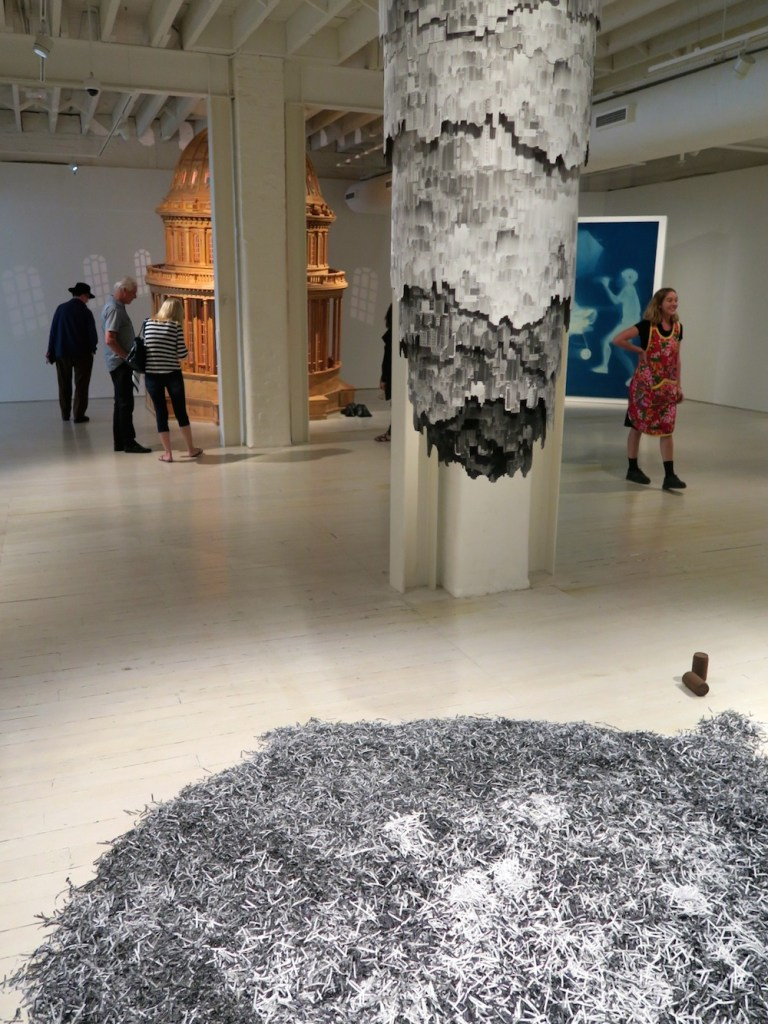 Ashes from a giant cigaret as part of an art work at White Rabbit Gallery Sydney |curlytraveller.com