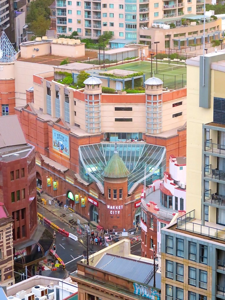 Looking down on Paddy's Market |curlytraveller.com