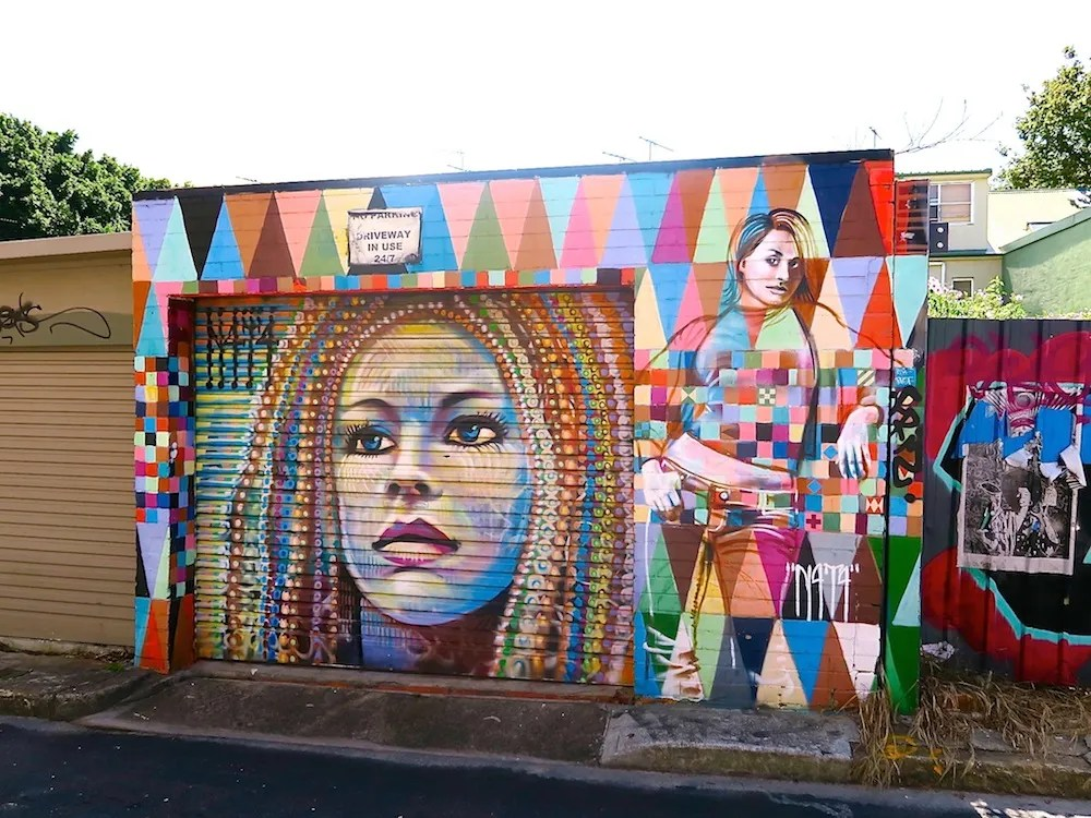 Mural by N4T4 in St Peters |curlytraveller.com