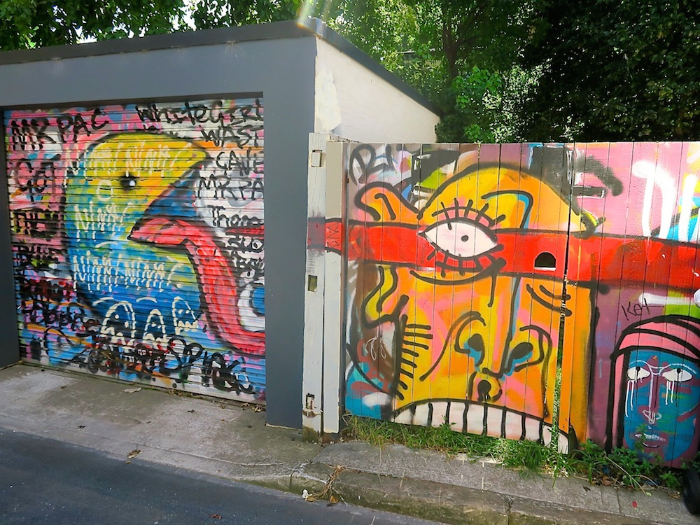 Graffiti on garage doors in St Peters, Sydney |curlytraveller.com