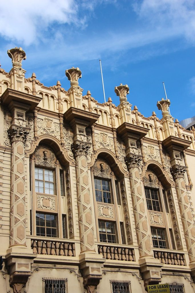 Beautiful masonry along George Street Sydney|curlytraveller.com