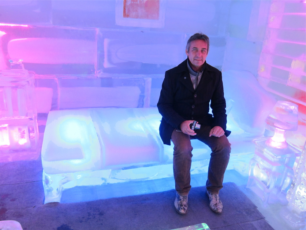 Man on ice bed Ice Museum Seoul |curlytraveller.com