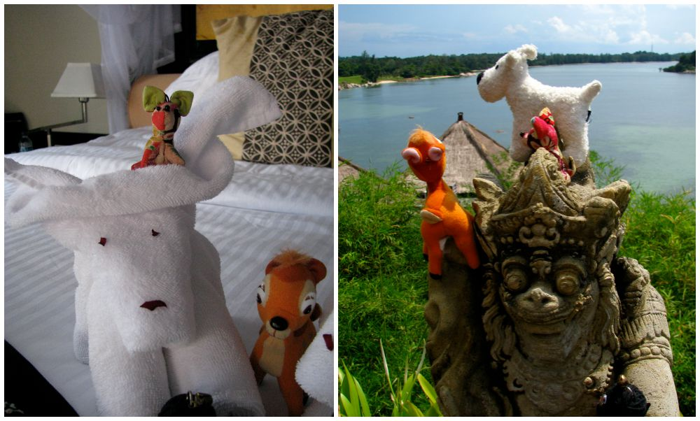 Small toys and towel creatures | curlytraveller.com