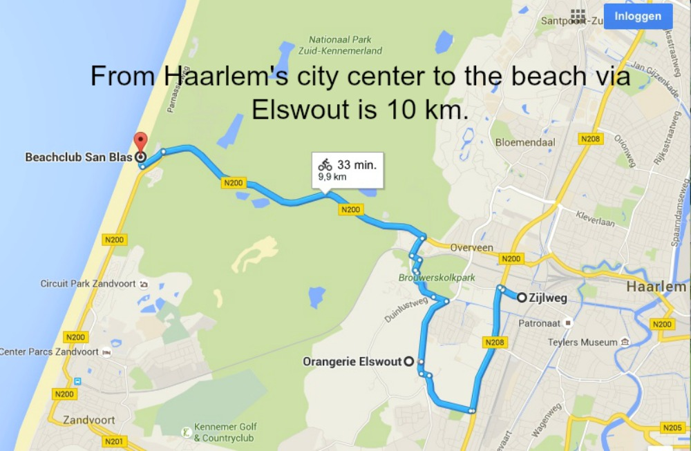 route from Haarlem to the beach via Elswout |curlytraveller.com