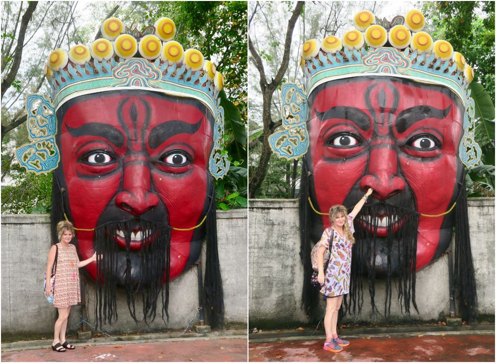 Oversized masks at Tiger Balm Garden Singapore curlytraveller.com