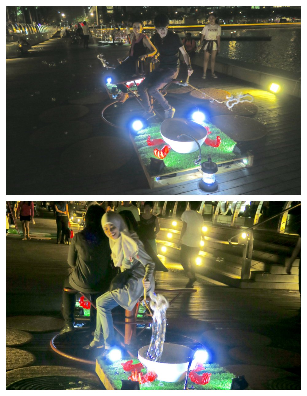 Fun with soap bubbles at light 2016 |curlytraveller.com