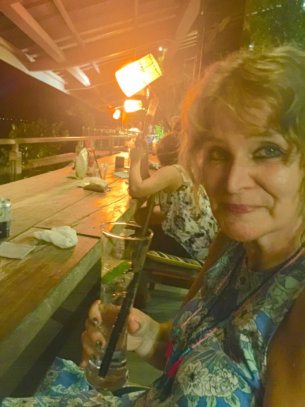 Woman with a softdrink at bar Unique Bali |curlytraveller.com