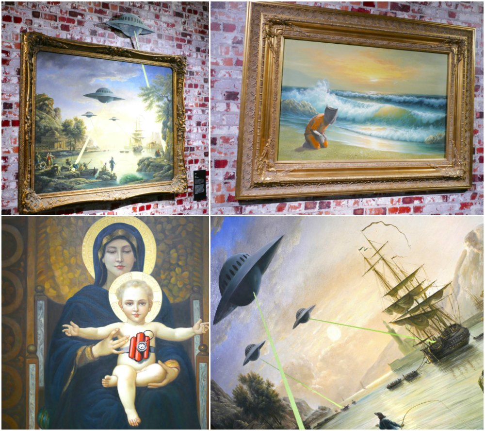 Classic paintings with a twist by Banksy  curlytraveller.com